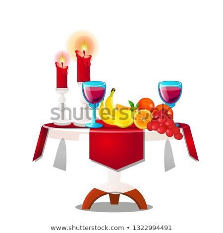 tablo · masa · örtüsü · yalıtılmış · mobilya · beyaz · ahşap - stok fotoğraf © lady-luck