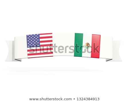 Steag doua pătrat steaguri Statele Unite Mexic Imagine de stoc © MikhailMishchenko