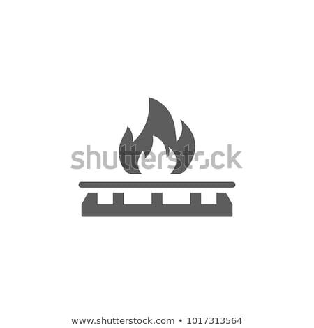 Gas icon kleur ontwerp voedsel brand Stockfoto © angelp