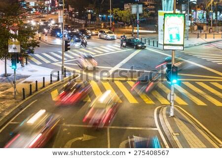 Verde verde chiaro semaforo cielo blu città Foto d'archivio © 5xinc