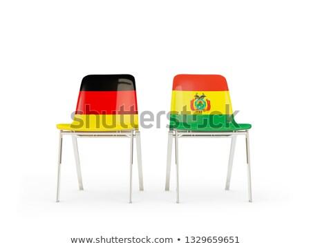 два стульев флагами Германия Боливия изолированный Сток-фото © MikhailMishchenko