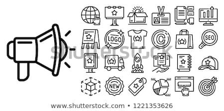 startup · vékony · vonal · ikon · háló · mobil - stock fotó © angelp