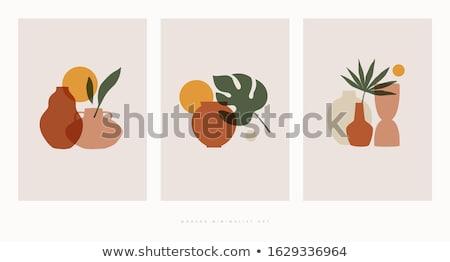 Vektor szett váza művészet rajz stílus Stock fotó © olllikeballoon