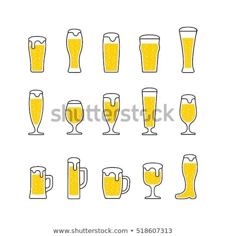 Pół kwarty piwa lodu zimno szkła Zdjęcia stock © albund