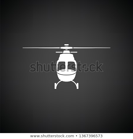 Helicopter icon front view Stock photo © angelp