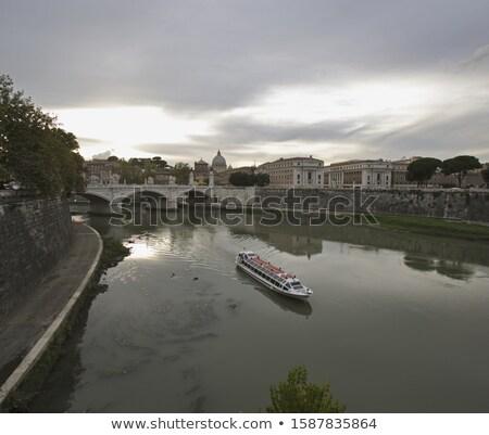Roma río puentes ciudad cielo iglesia Foto stock © xbrchx