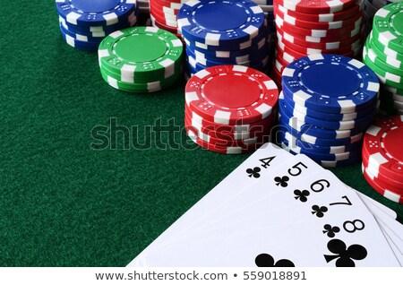 Düz oynama poker beyaz kumarhane siyah Stok fotoğraf © bdspn