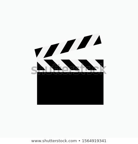 Movie Camera And Clapper Board Stock photo © AndreyPopov