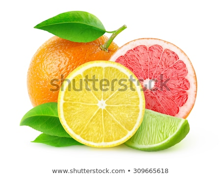 close up of different citrus fruit slices stock photo © dolgachov
