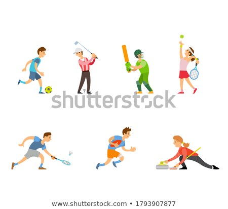 English Sport People Running and Playing Games Stock photo © robuart