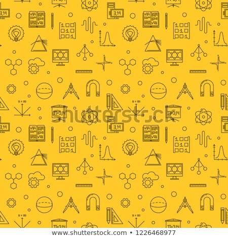 line gears symbols on yellow background stock photo © sarts