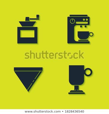 Kahve öğütücü ikon el örnek mutfak Stok fotoğraf © sifis