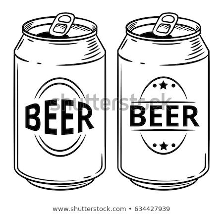 Hand Drawn Blank Beer Bottle Color Vector Stock photo © pikepicture