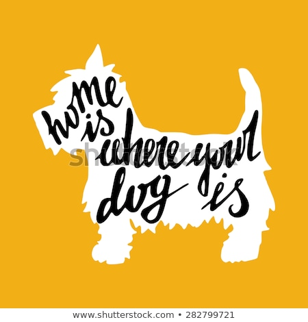 Dog, silhouette. Concept design of home animals Stock photo © FoxysGraphic