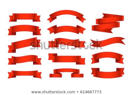 Origami stijl banners ingesteld vlag Stockfoto © SArts