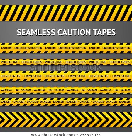 voorzichtigheid · naadloos · waarschuwing · lijn · vector · werk - stockfoto © kup1984