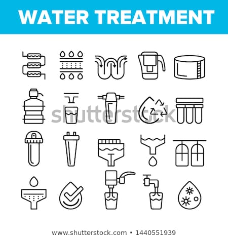 Water Treatment Items Vector Thin Line Icons Set Stock photo © pikepicture