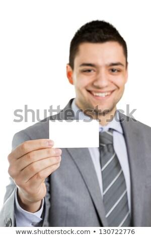 Iş adamı kart karşılama metin dijital bileşik Stok fotoğraf © wavebreak_media