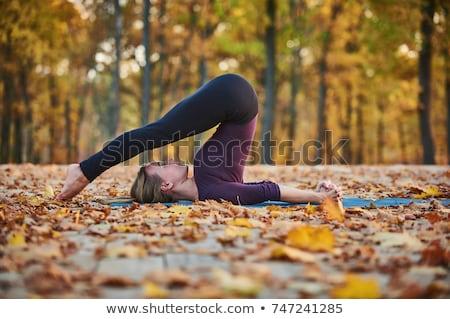 Nő eke jóga fiatal hölgy gyakorol Stock fotó © lichtmeister