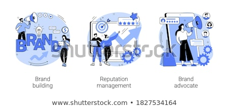 Reputation building vector concept metaphors Stock photo © RAStudio