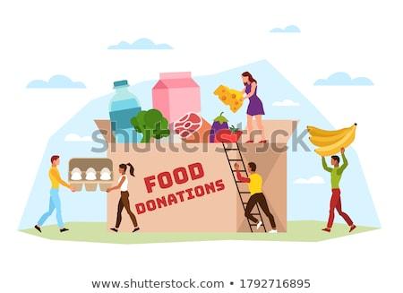 Vrijwilligerswerk mensen persoon activist helpen vector Stockfoto © robuart