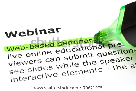 Webinar definition Stock photo © ivelin