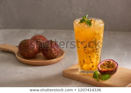 свежие здорового чай страсти фрукты Сток-фото © galitskaya