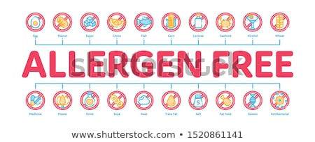 Allergen Free Products Minimal Infographic Banner Vector Stock photo © pikepicture
