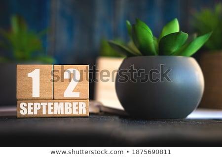 Würfel Kalender rot weiß Symbol Tabelle Stock foto © Oakozhan