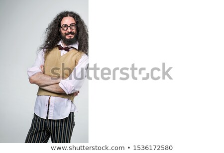 Eccentric guy posing next to the empty board Stock photo © majdansky