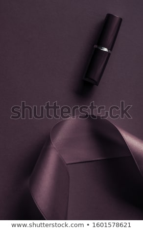 lüks · ruj · ipek · şerit · karanlık · mor - stok fotoğraf © anneleven