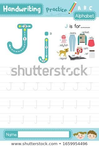 brief · jet · illustratie · witte · school · achtergrond - stockfoto © izakowski