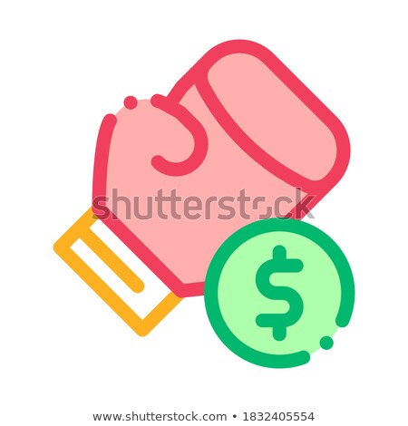 Boxing Hand Sign Betting And Gambling Icon Vector Illustration Stock photo © pikepicture
