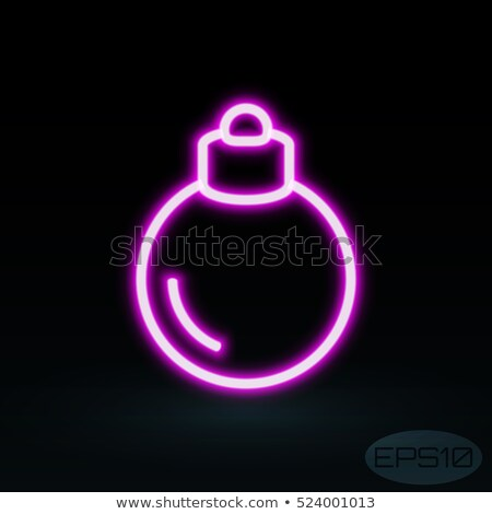 Merry Christmas Neon Sign Violet Stock photo © Voysla
