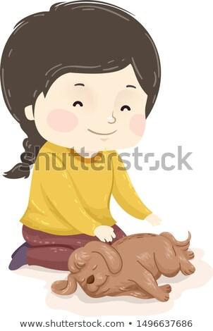 Nina reiki masaje ilustración practicante Foto stock © lenm