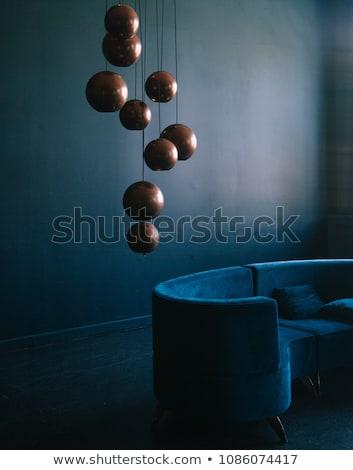 Bronce lámpara habitación elegante moderna Foto stock © Anneleven
