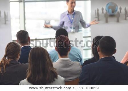 Widok z tyłu różnorodny grupy ludzi biznesu działalności seminarium Zdjęcia stock © wavebreak_media