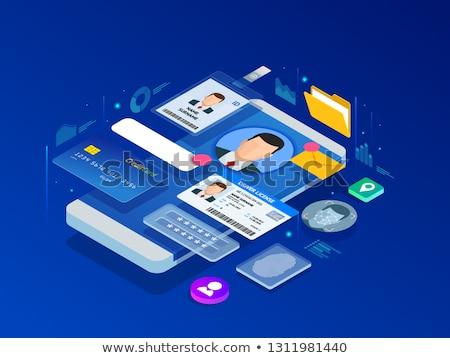 Online identity management concept vector illustration Stock photo © RAStudio