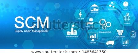 Supply chain management concept vector illustration Stock photo © RAStudio
