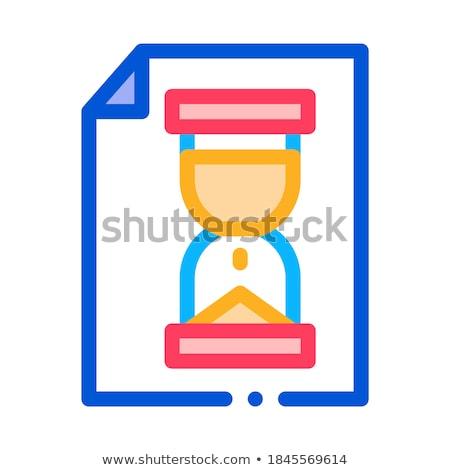песочных часов файла проворный элемент вектора икона Сток-фото © pikepicture