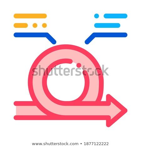 Agilis nyíl osztályzat hozzászólások vektor ikon Stock fotó © pikepicture