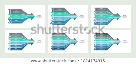 four steps directional line infographic template design Stock photo © SArts