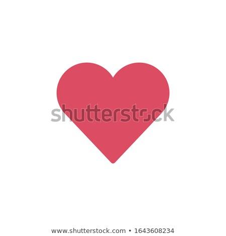Ulubione serca ikona minimalny walentynki line Zdjęcia stock © kyryloff