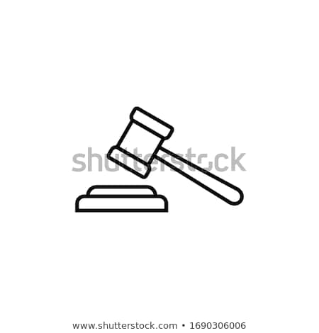 Court Gavel Law And Judgement Icon Vector Illustration Stock photo © pikepicture