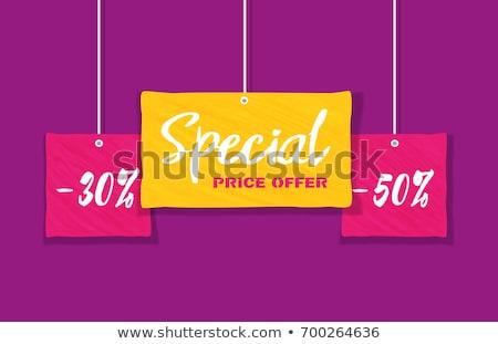 Quente preço bandeira redução custo Foto stock © robuart