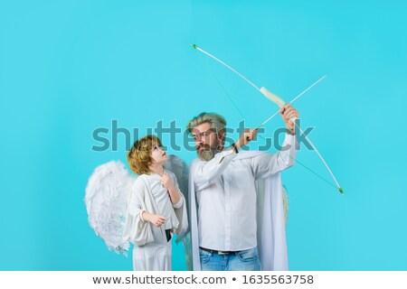Noel melekler sevgililer günü çocuklar vektör kalp Stok fotoğraf © robuart