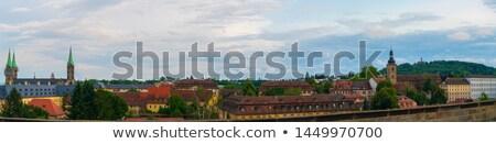 Città Germania cattedrale blu nuvoloso cielo Foto d'archivio © kyolshin
