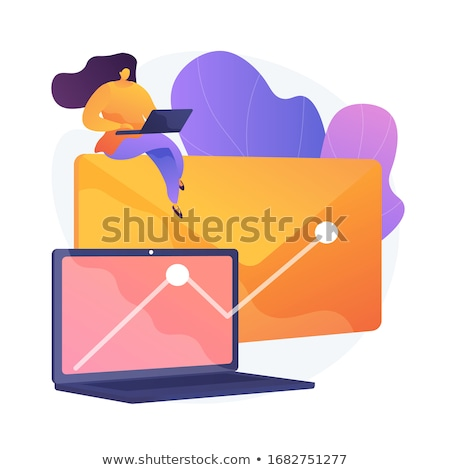 Stockfoto: Newsletter Profitable Promotional Campaign Vector Concept Metaphor