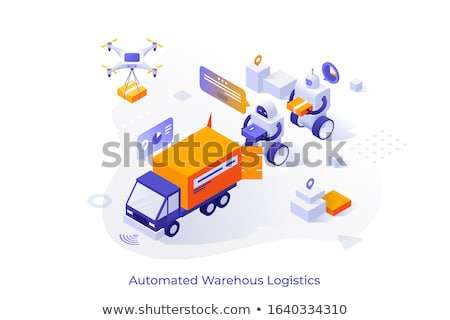 Delivery of Parcel Box, Drone Fulfilling Order Stock photo © robuart