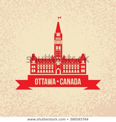 Foto stock: Parlamento · edifício · Otawa · Canadá · turismo